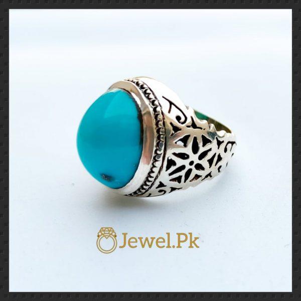 Irani Ring + Nishapuri Feroza Handmade Silver 925 Ring