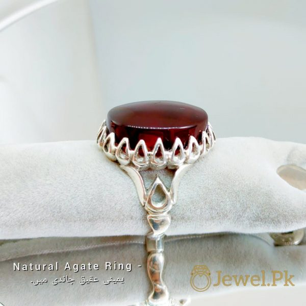 Natural Brown - Black Agate - Aqeeq Rings buy online in pakistan